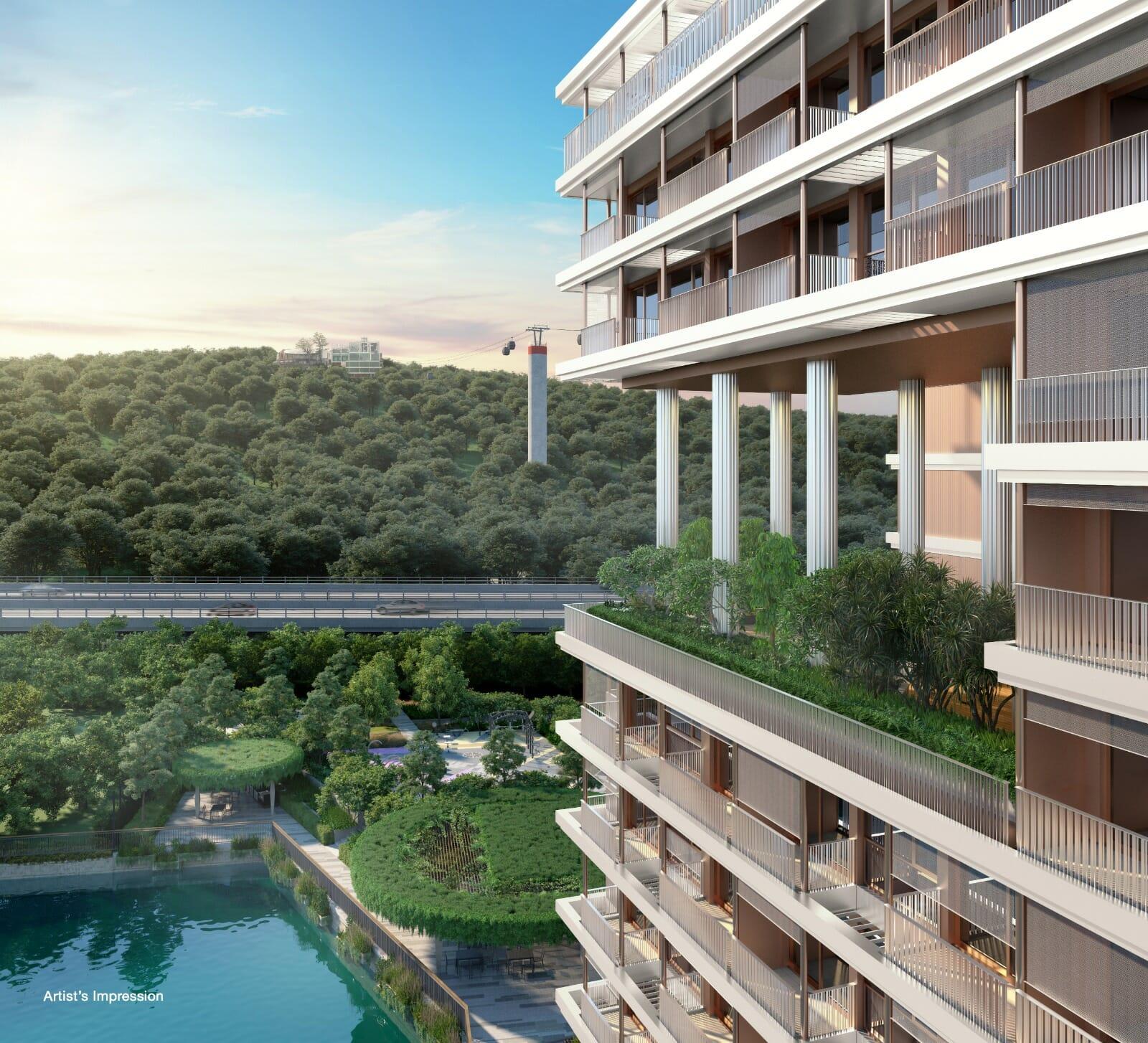 The Reef Condo High Floor View